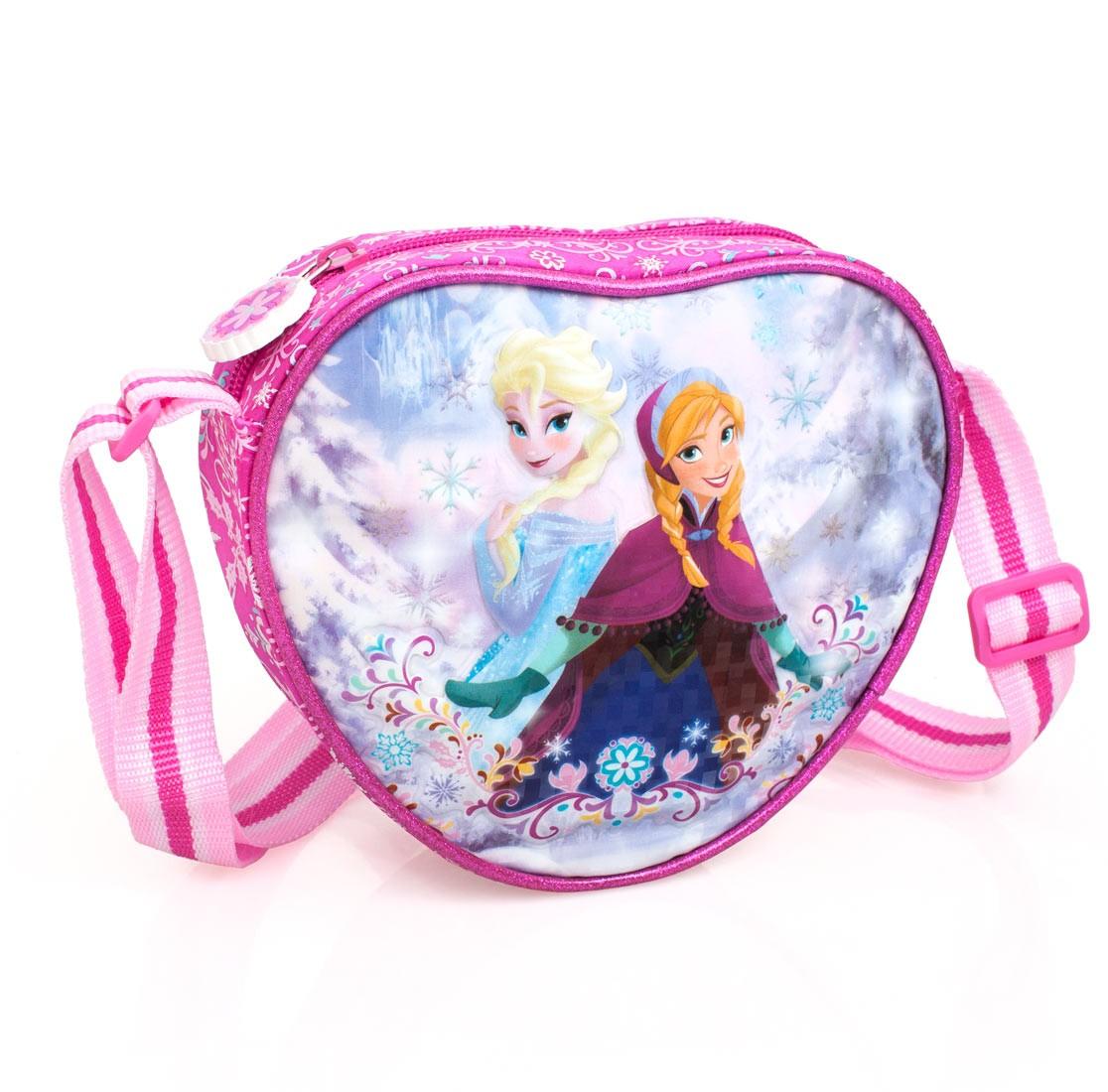 Premium Disney Frozen Heart Shaped Shoulder Bag