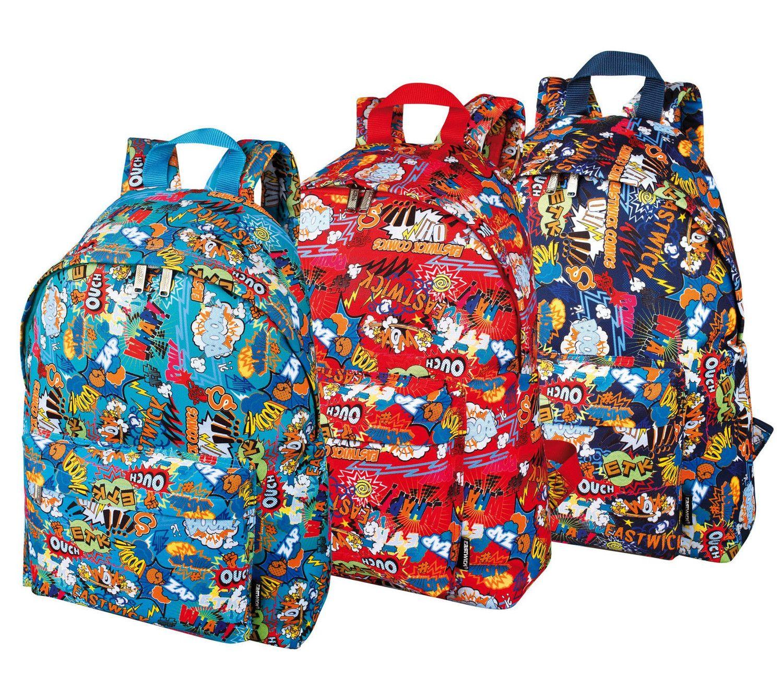 Trendy Comics Cartoon Large Backpack