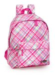 Girls Backpack Tartan Pink 001