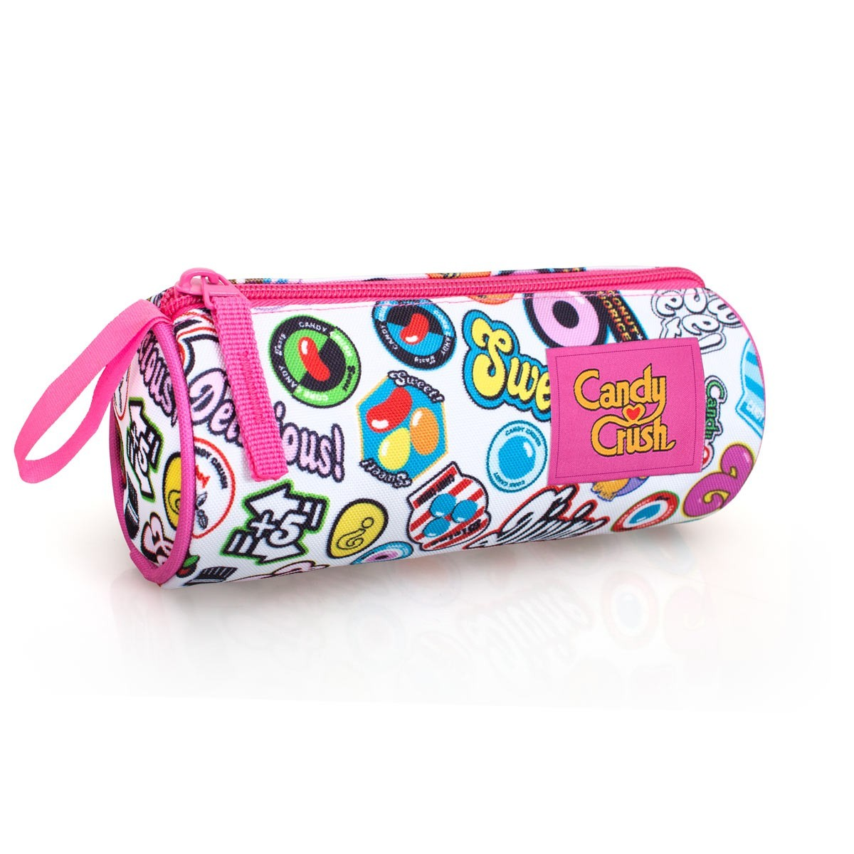 Candy Crush White Pencil Case