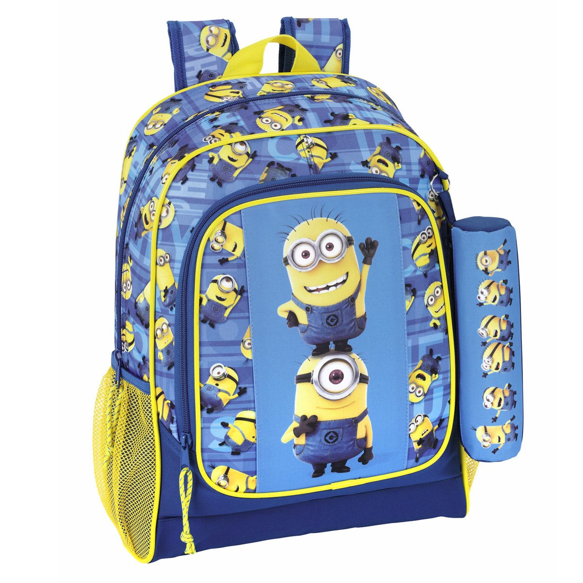 Minions Blue Large Backpack + Pencil Case – image 1