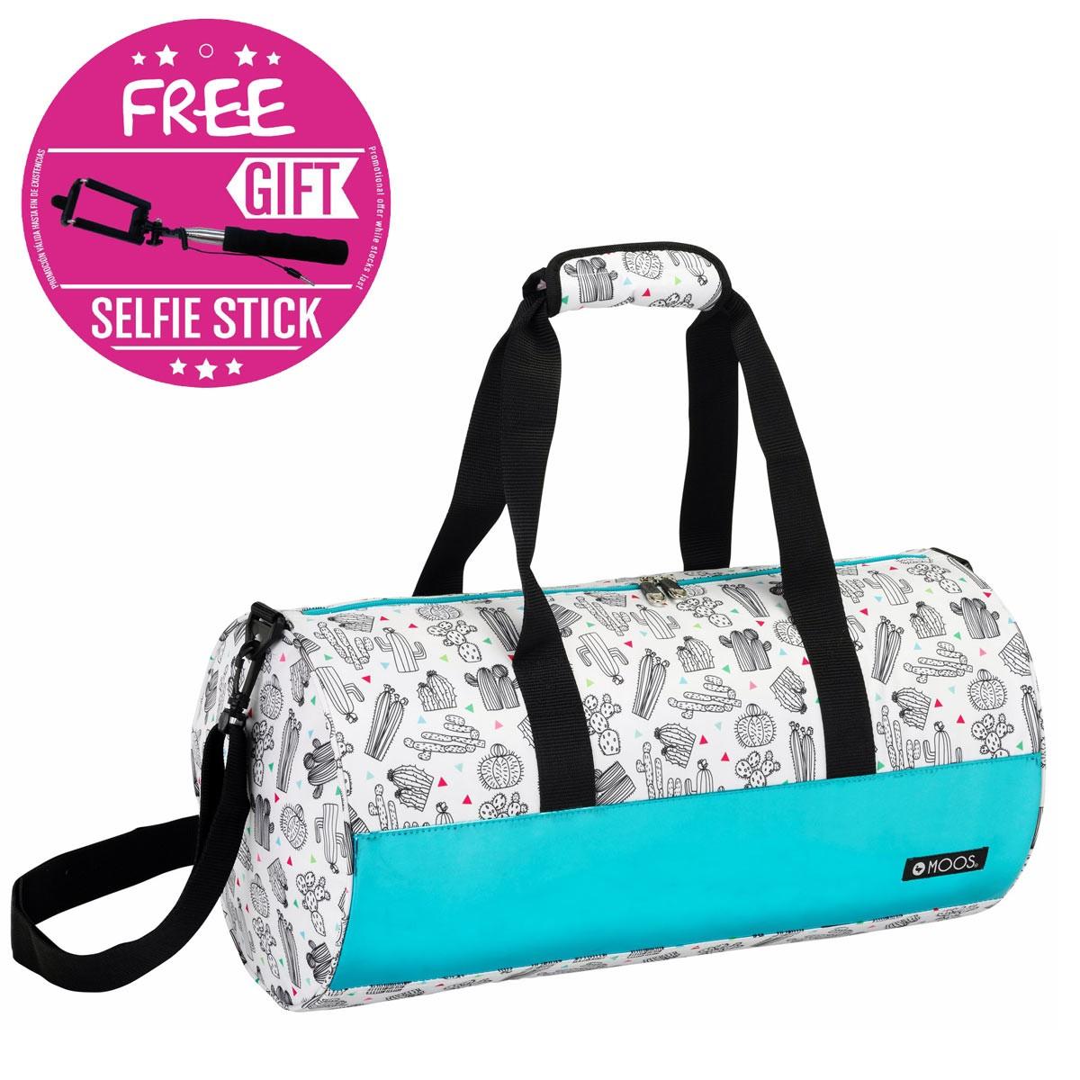 Designer Moos Cactus Roll Travel Bag + FREE SELFIE STICK – image 1
