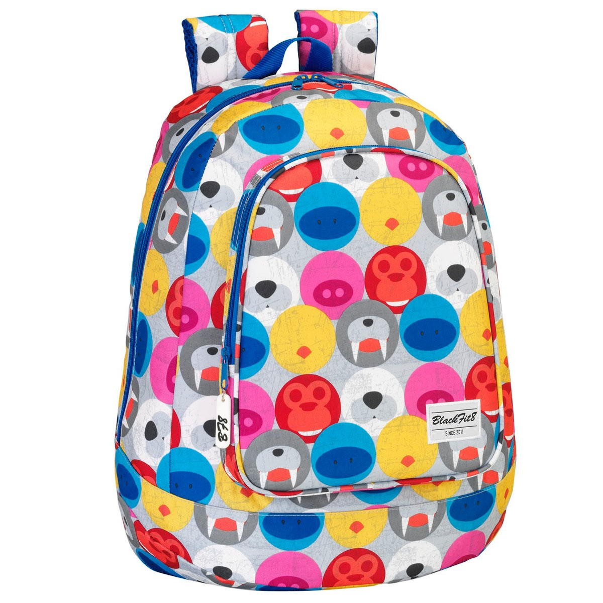 BlackFit8 Large Backpack Day Pack Teddy Friends