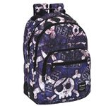 Blackfit8 Deluxe Skulls Trendy Double Large Backpack 001