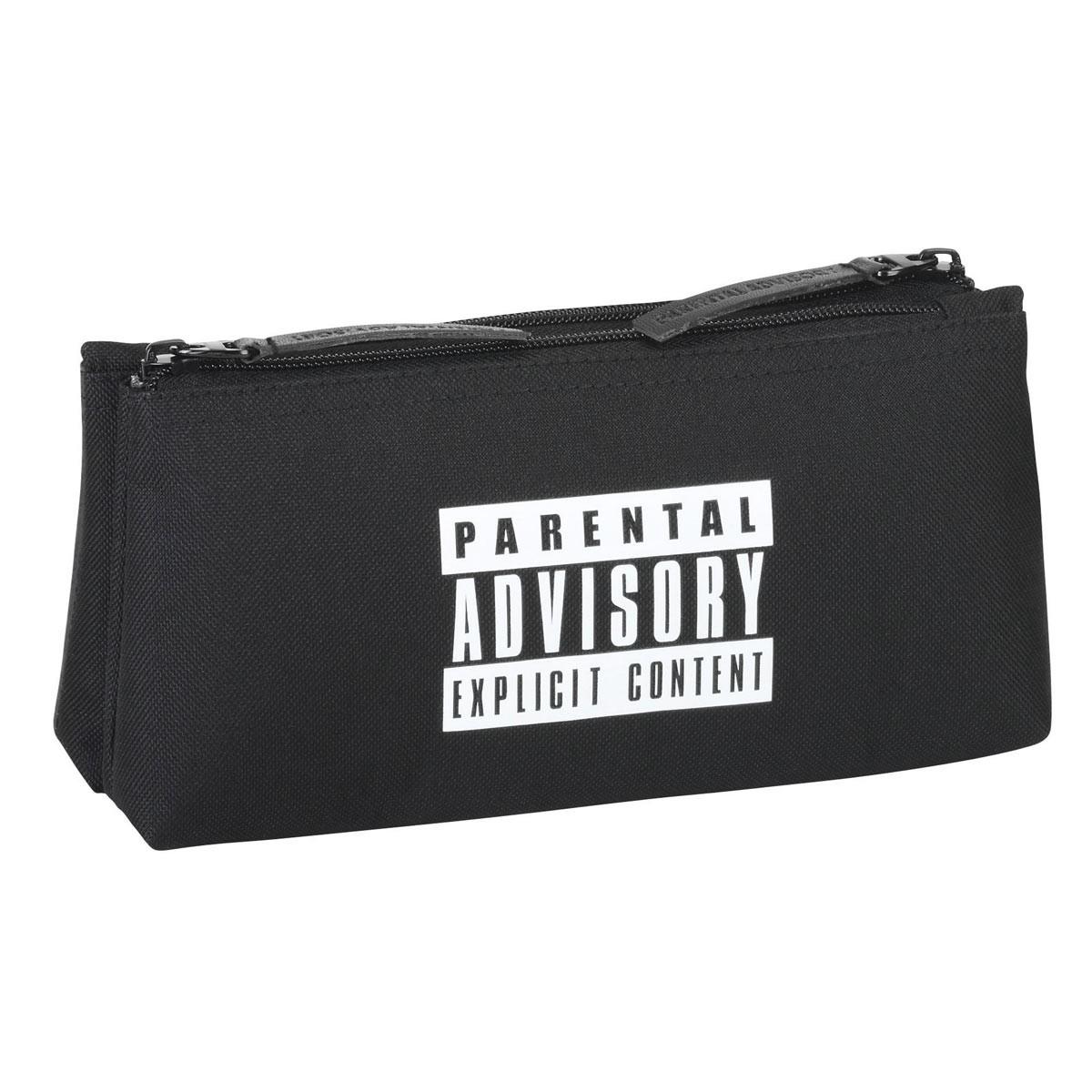 Parental Advisory Black Cosmetic Toiletry Bag