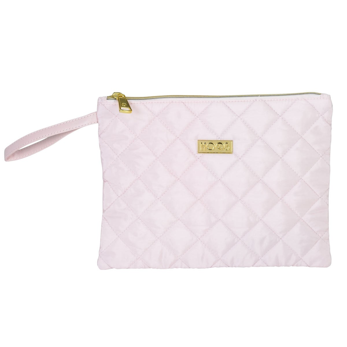 Moos Pink Quilted Deluxe Carry On Cosmetic Bag