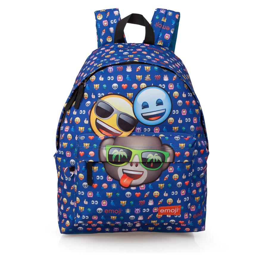 EMOJI Blue Premium Backpack  3 Friends