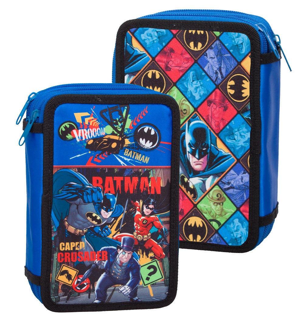 Premium Batman Triple Filled Compartment Pencil Case