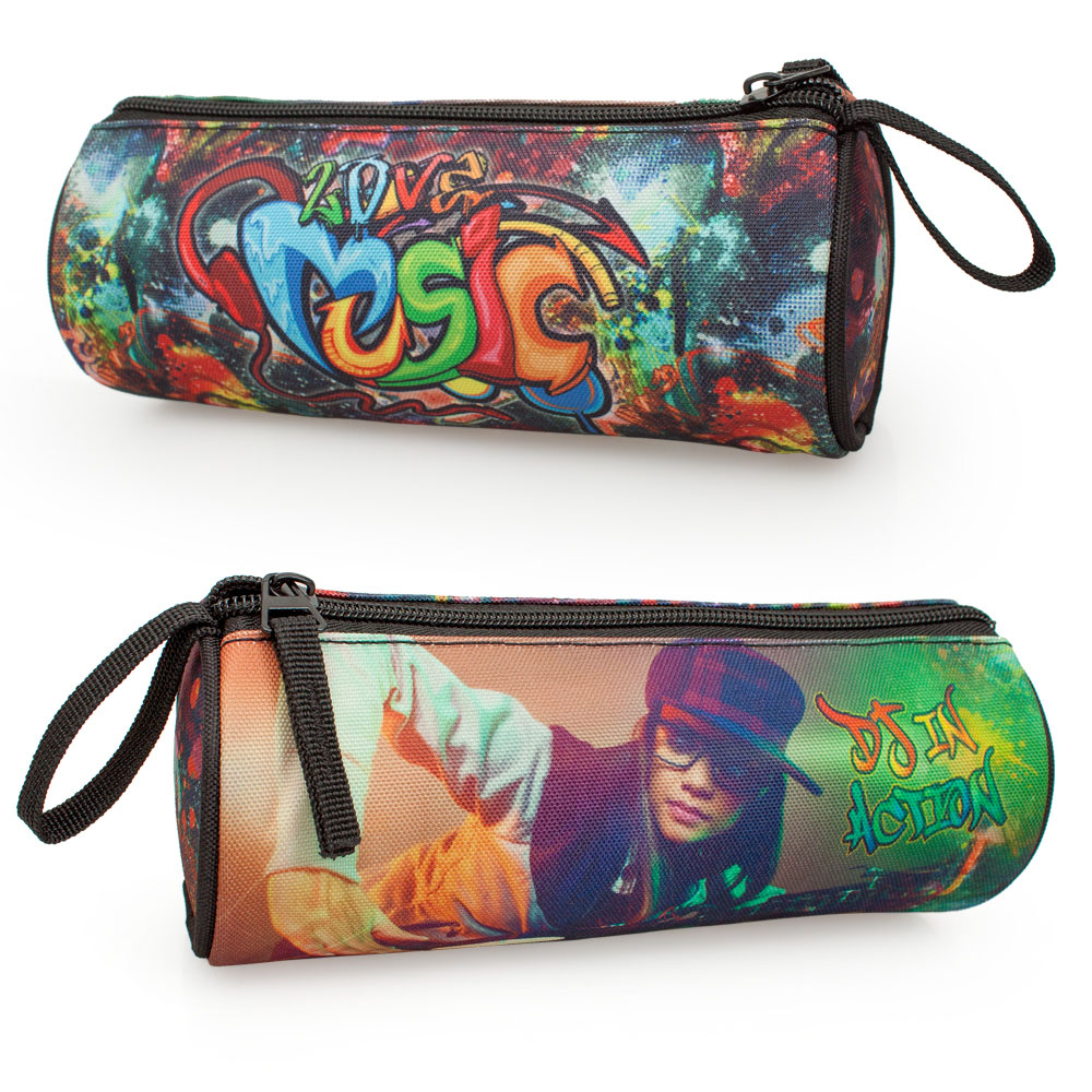 Delbag Pencil Case Round  DJ Graffiti – image 1