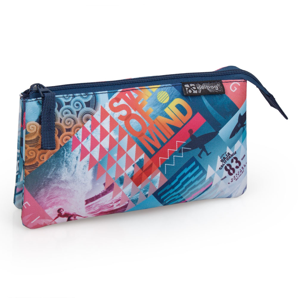 Delbag Triple Pencil Case  Surfing – image 1