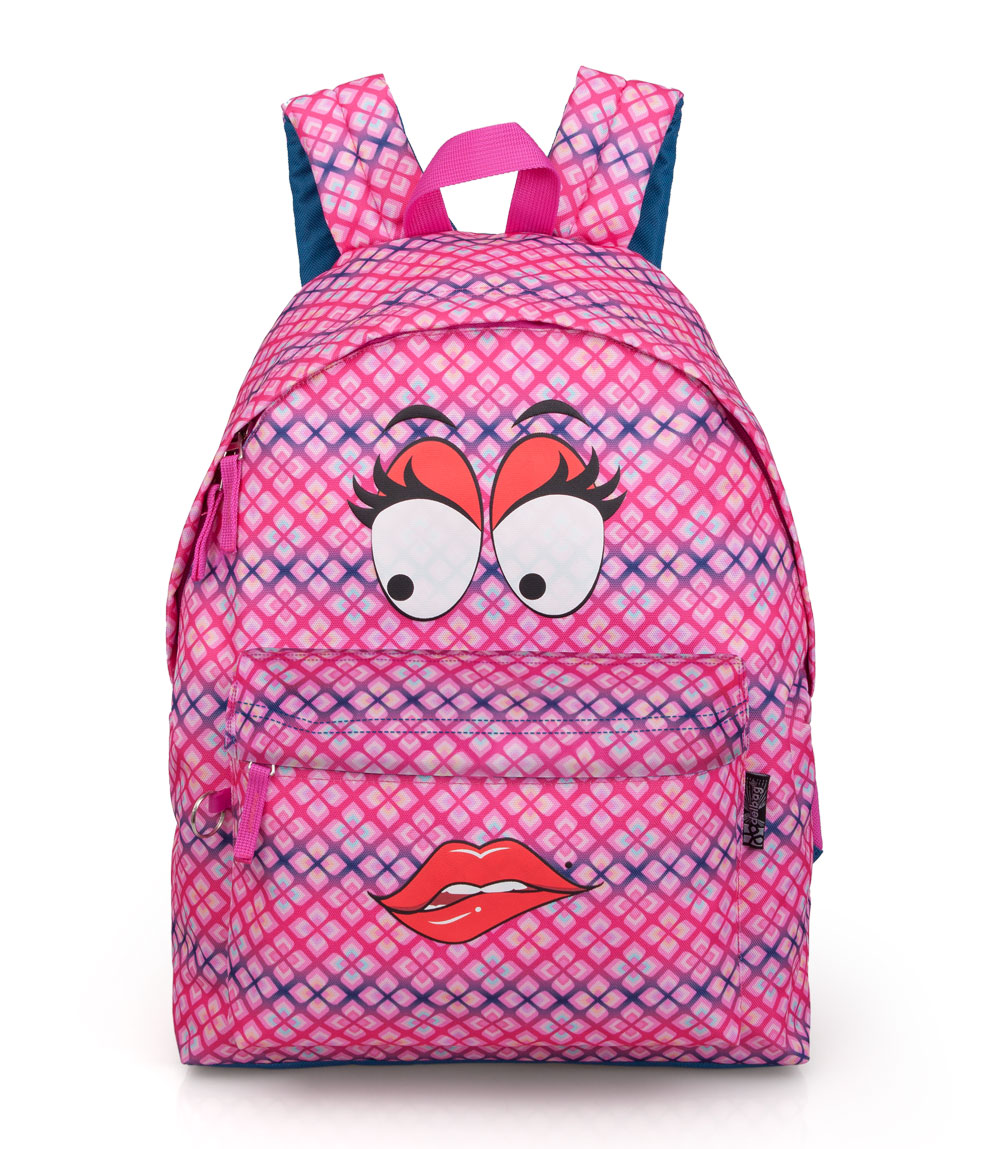 Delbag  Pink Backpack  Faces Lip Bite – image 1