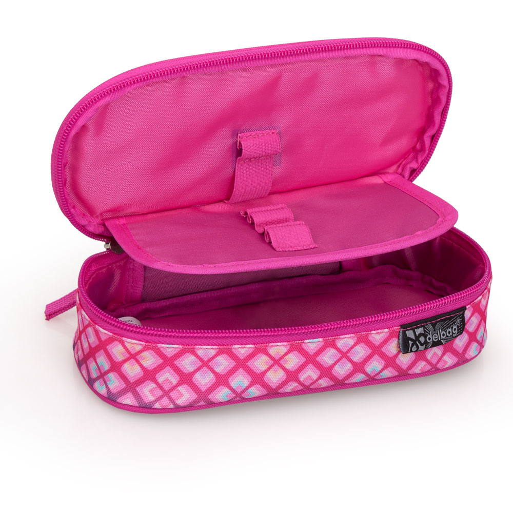 Delbag  Pink Pencil Case Oval  Faces Lip Bite – image 3
