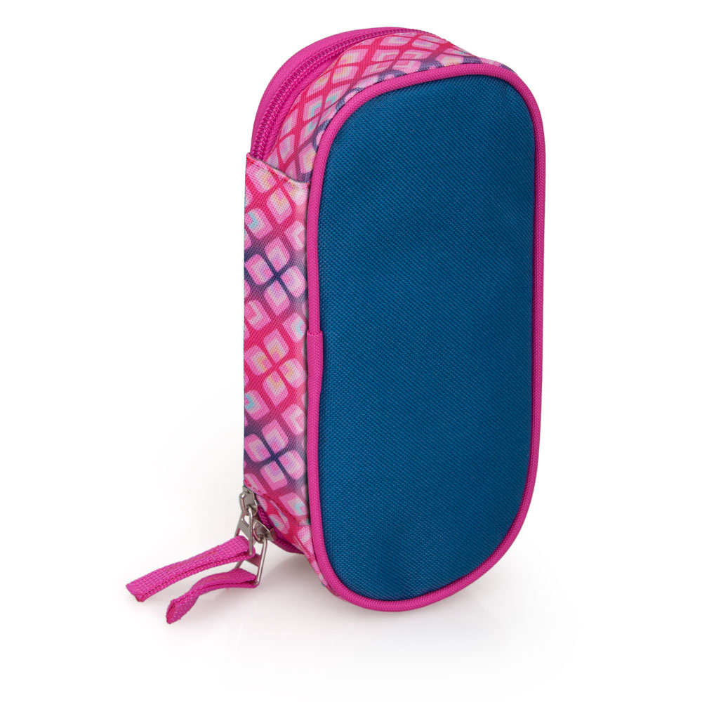 Delbag  Pink Pencil Case Oval  Faces Lip Bite – image 4