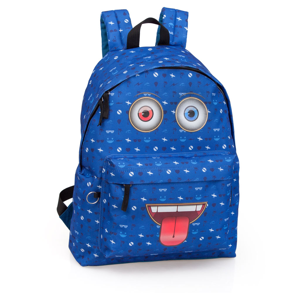 Delbag  Blue Backpack  Faces Tongue Out – image 1