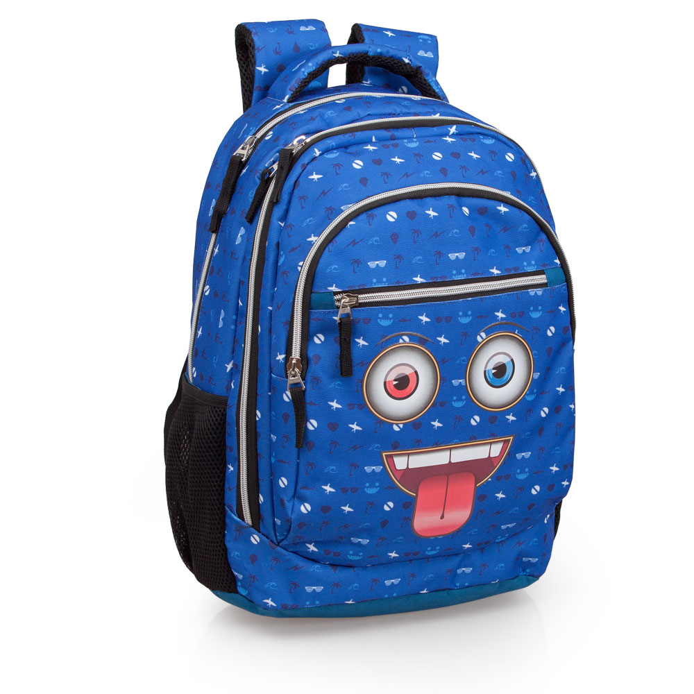 Mochila Rosa Tripla Laptop Delbag Faces Tongue Out – image 1