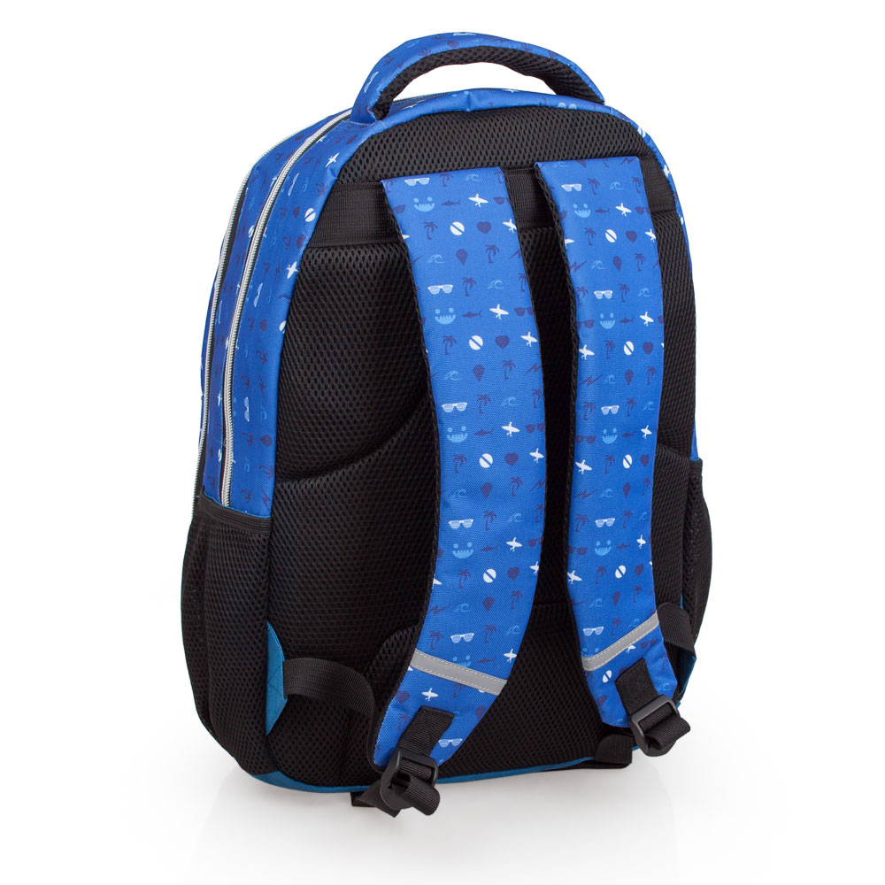 Delbag Laptop Backpack 3 Zip  Faces Tongue Out – image 2