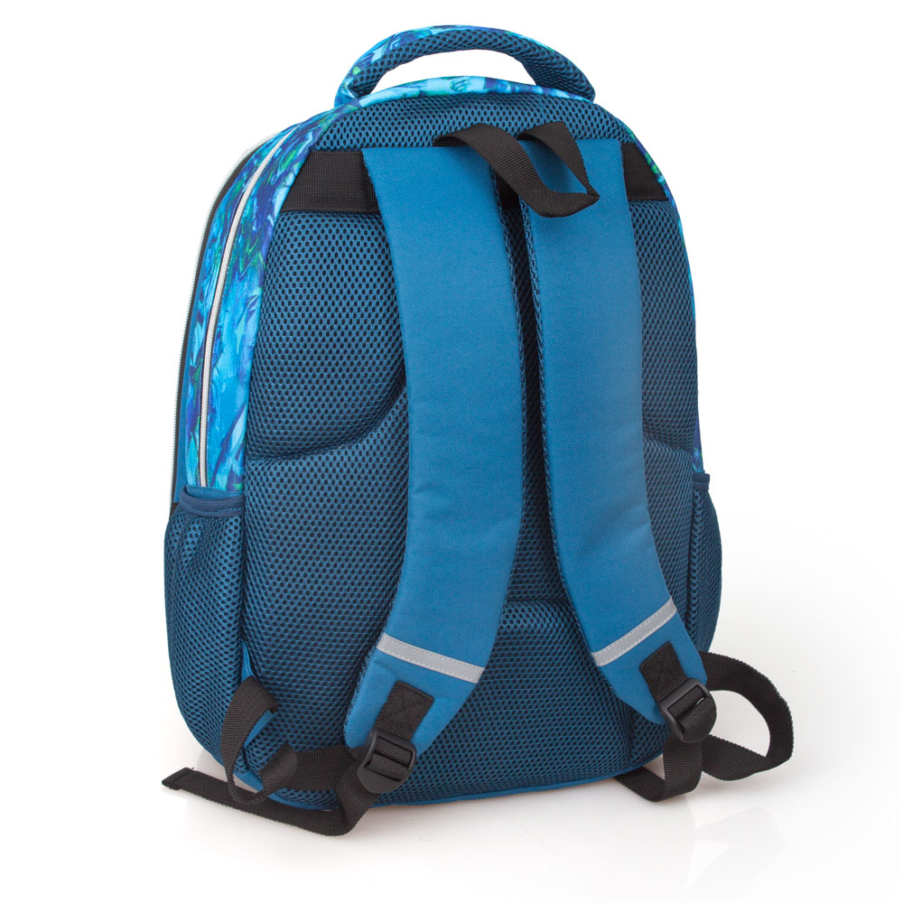Eastwick Blue Laptop Backpack 3 Zip  Faces Booh – image 2
