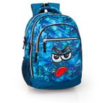 Mochila Tripla Laptop Premium Azul Eastwick Faces Booh 001