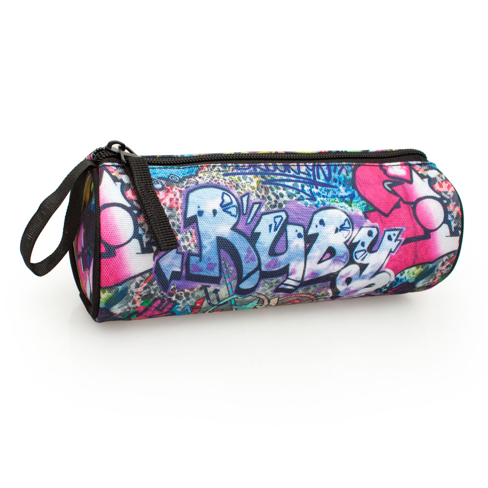 Eastwick Pencil Case Round  Graffiti Ruby – image 2
