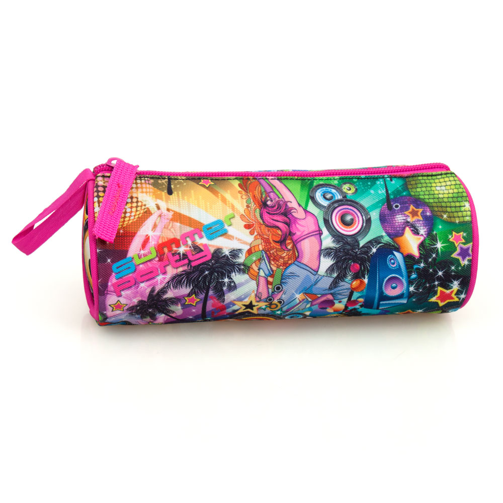 Eastwick Pencil Case Round  Pink Disco