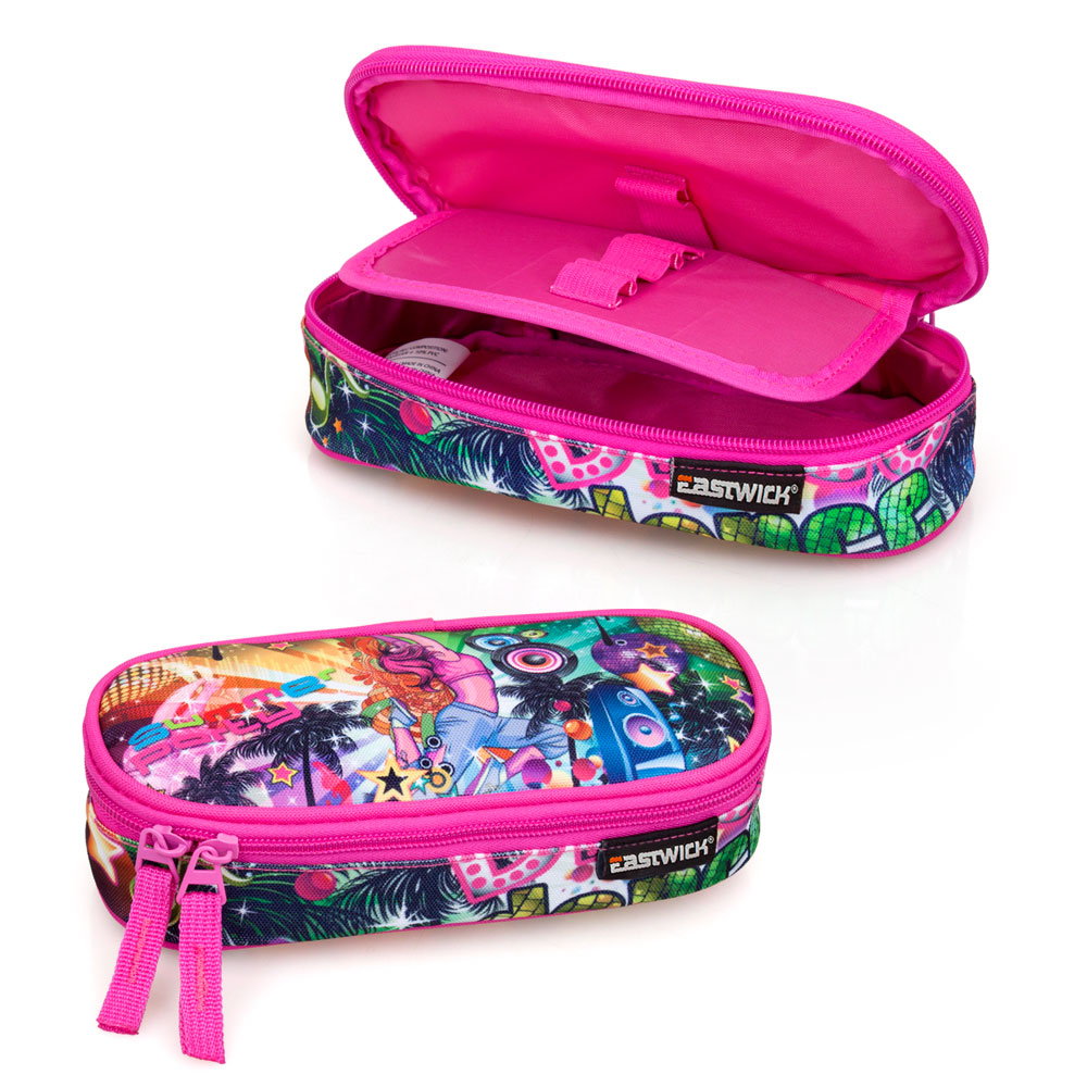 Eastwick Pencil Case Oval  Pink Disco – image 1