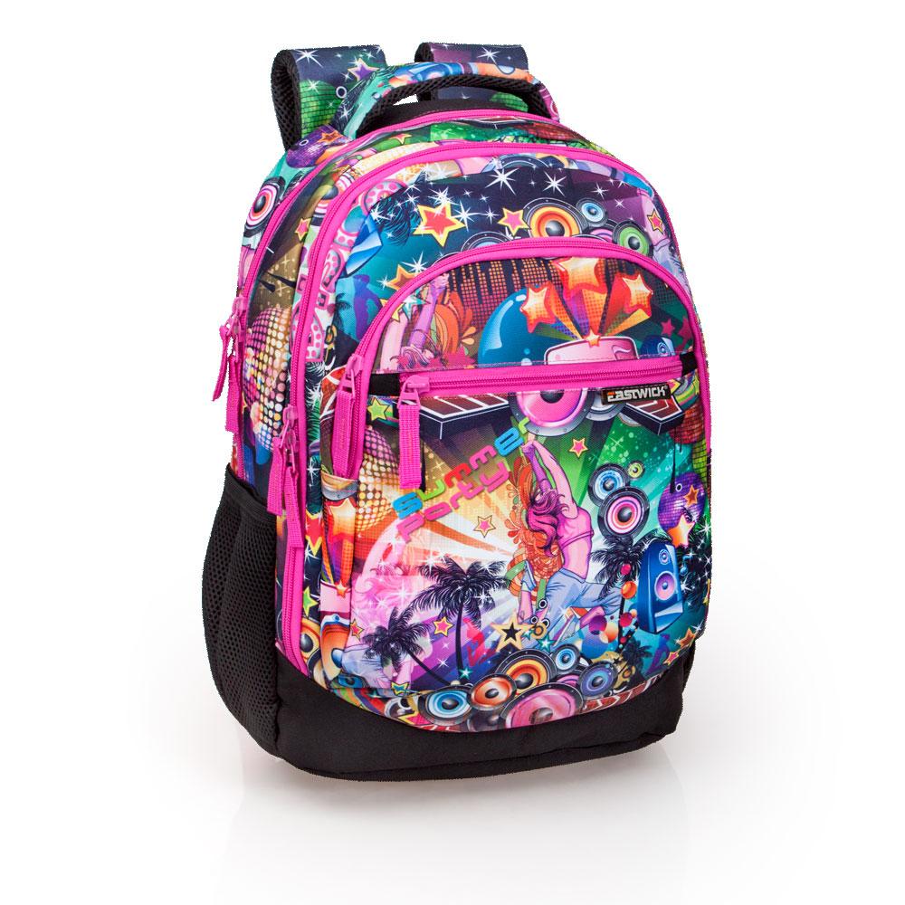 Mochila Tripla Laptop Premium Eastwick Pink Disco – image 1