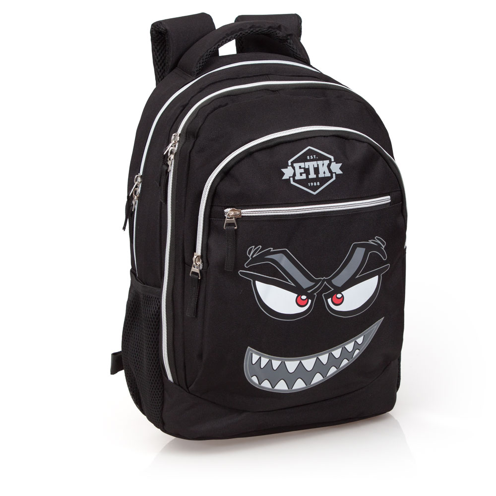 Eastwick Laptop Backpack 3 Zip  Faces Evil Red Eyes – image 1