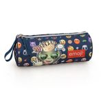 EMOJI Premium Pencil Case Round  King Monkey 001