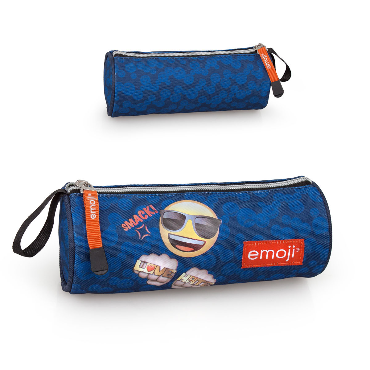 EMOJI Premium Pencil Case Round  Love & Hate