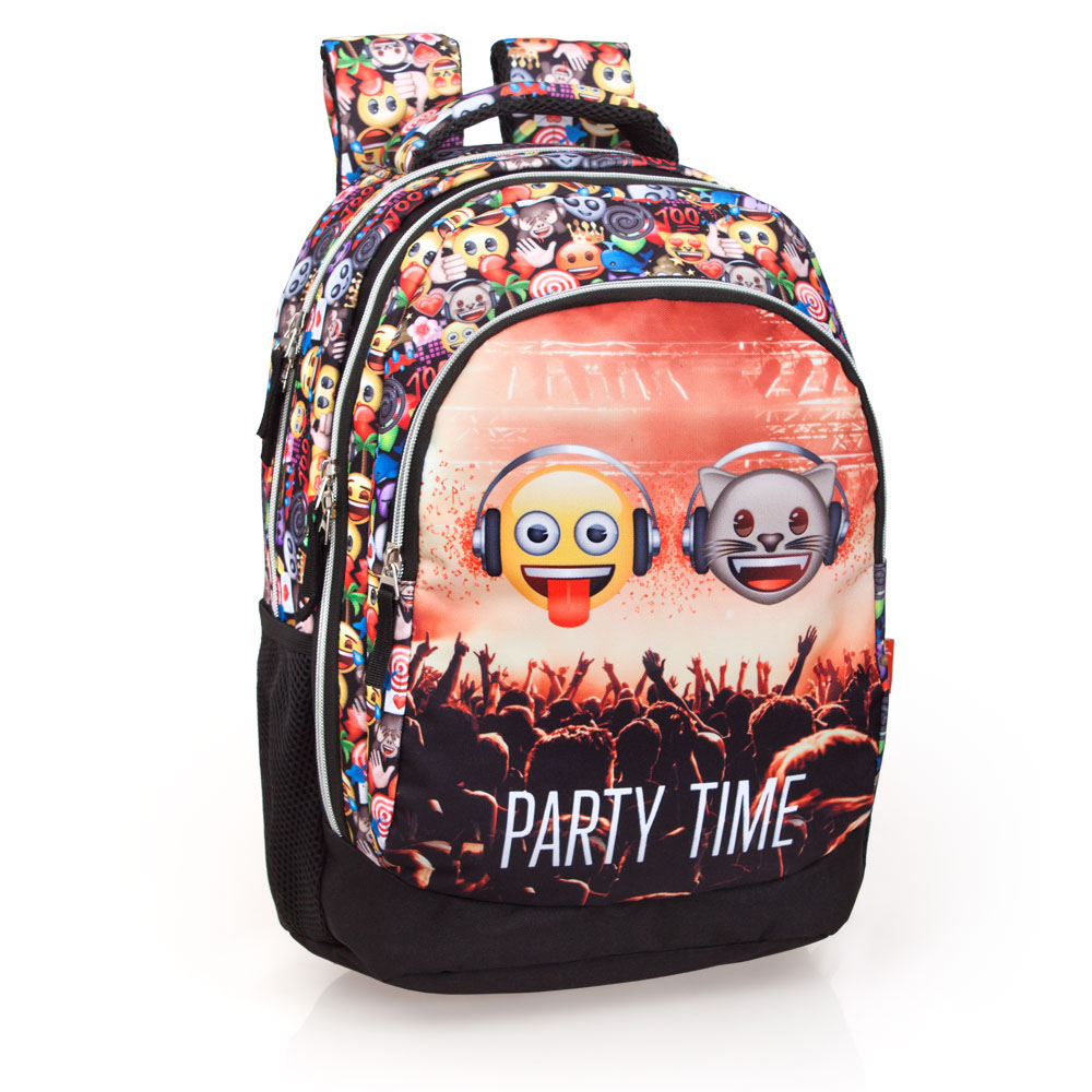 Mochila Tripla Laptop Premium EMOJI Party Time – image 1