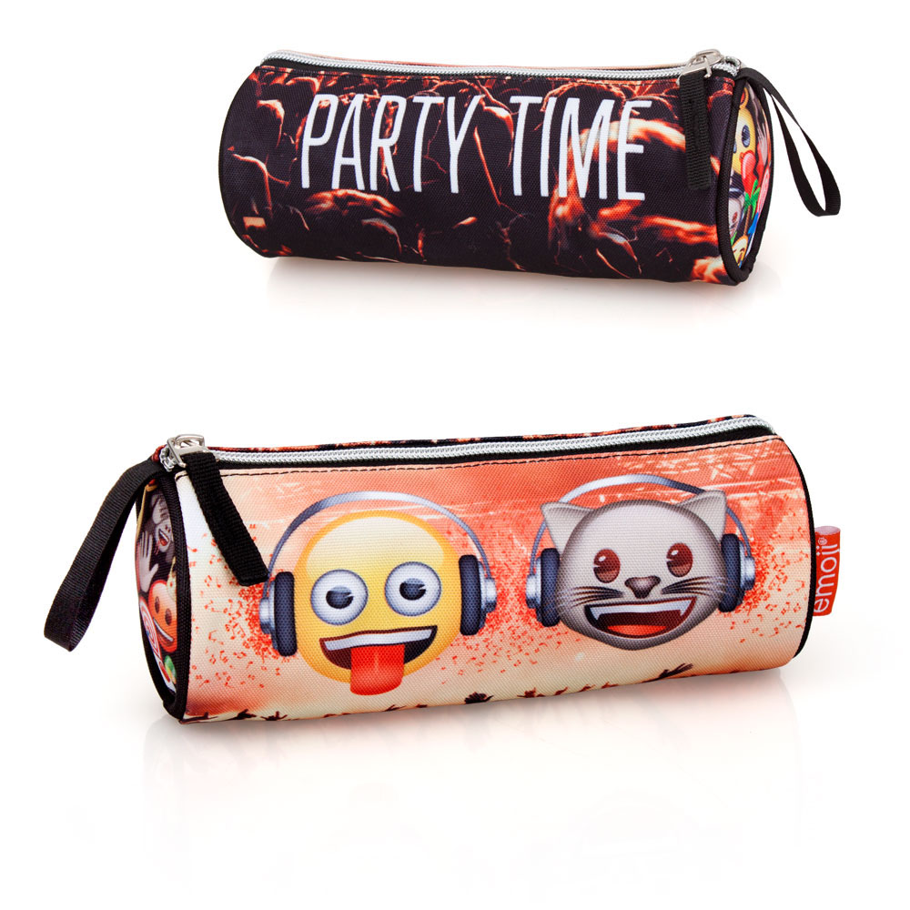 EMOJI Premium Pencil Case Round  Party Time – image 1