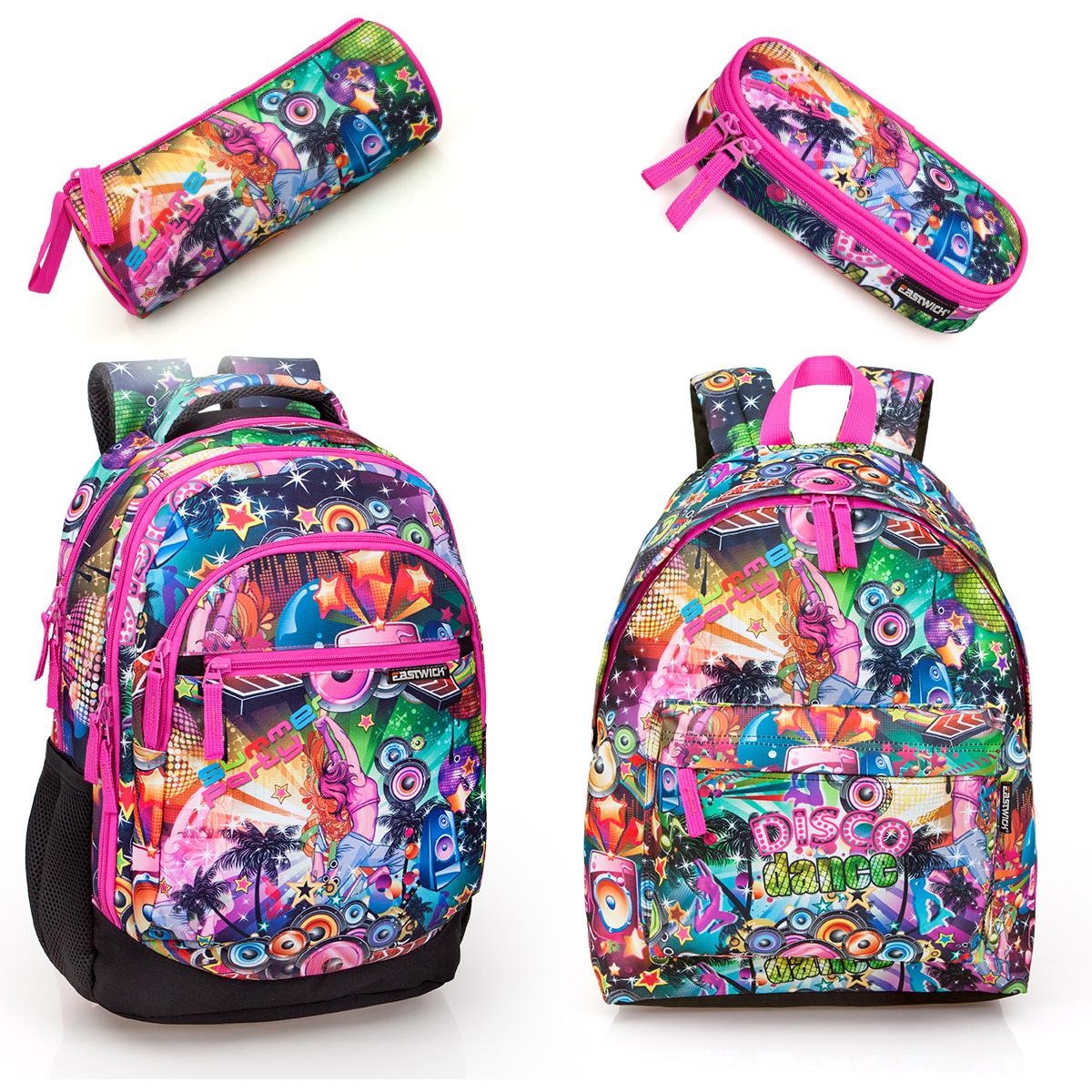 Pencil Case FLAMINGO Travel Work Holiday School Bag Girls Backpack Rucksack