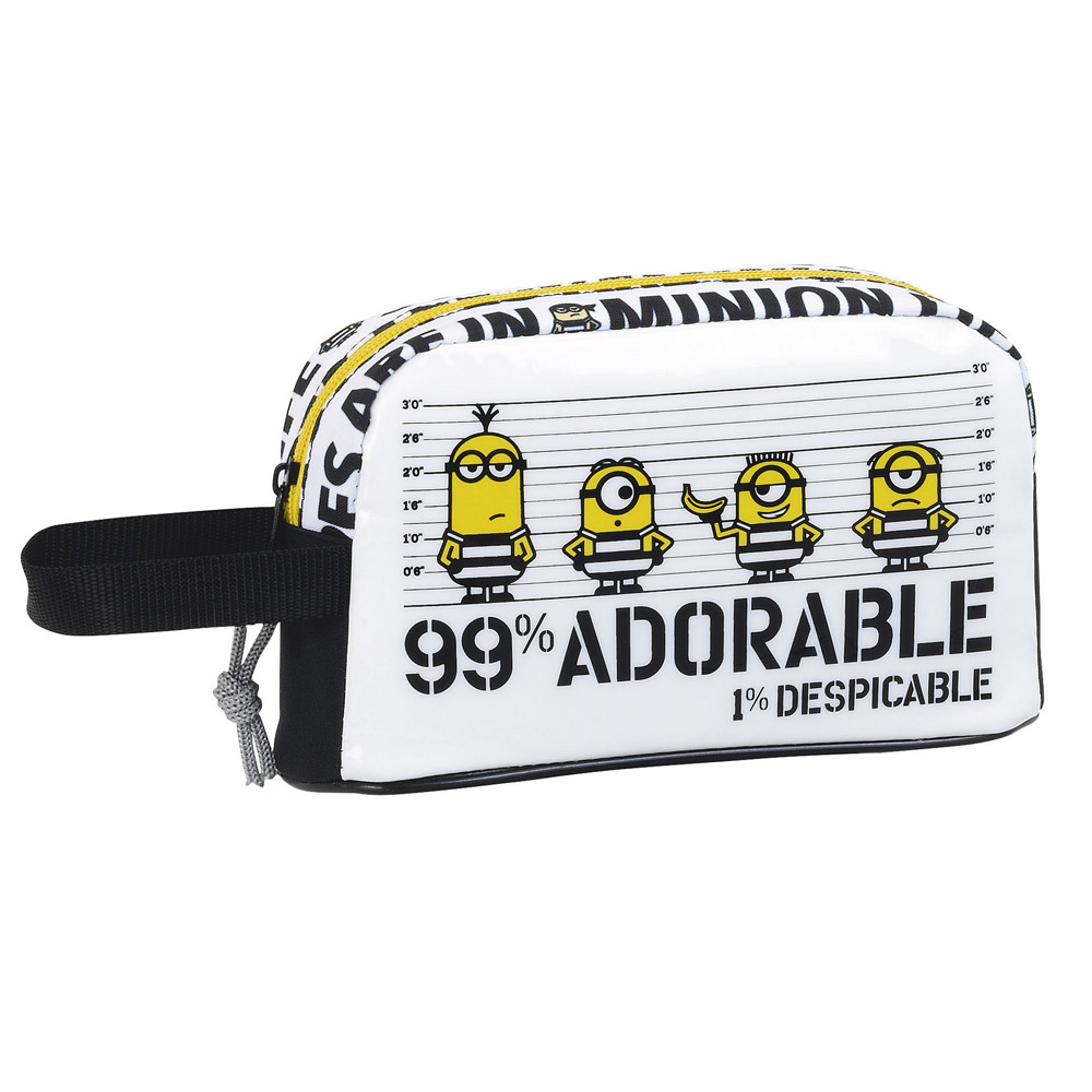 Minions Insulated Breakfast Lunch Bag B&W – image 1