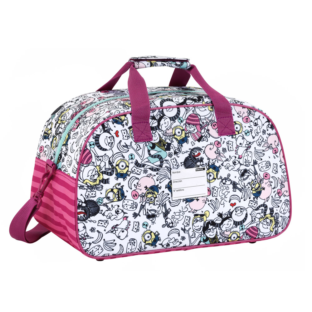 Pink Duffel Sports Bag Minions Family – image 2