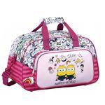 Pink Duffel Sports Bag Minions Family 001