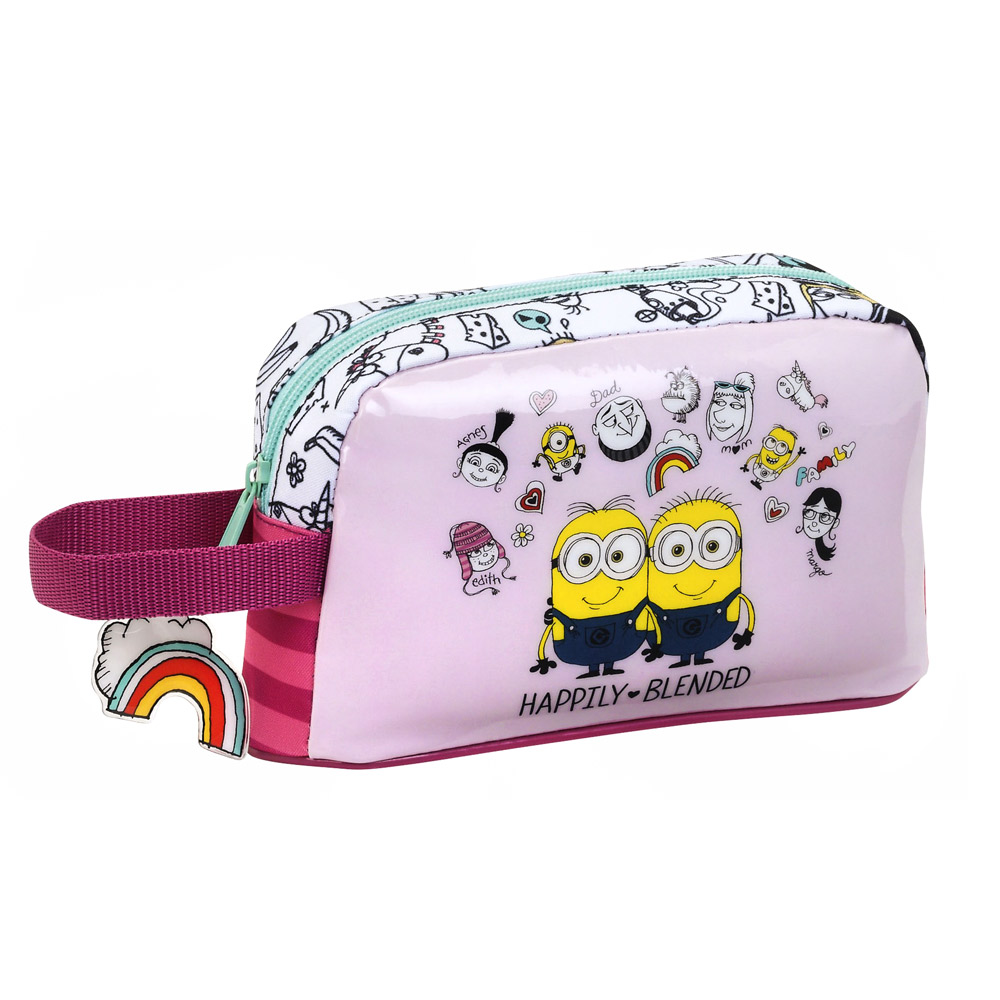 Minions Insulated Breakfast Lunch Bag Family Pink – image 1