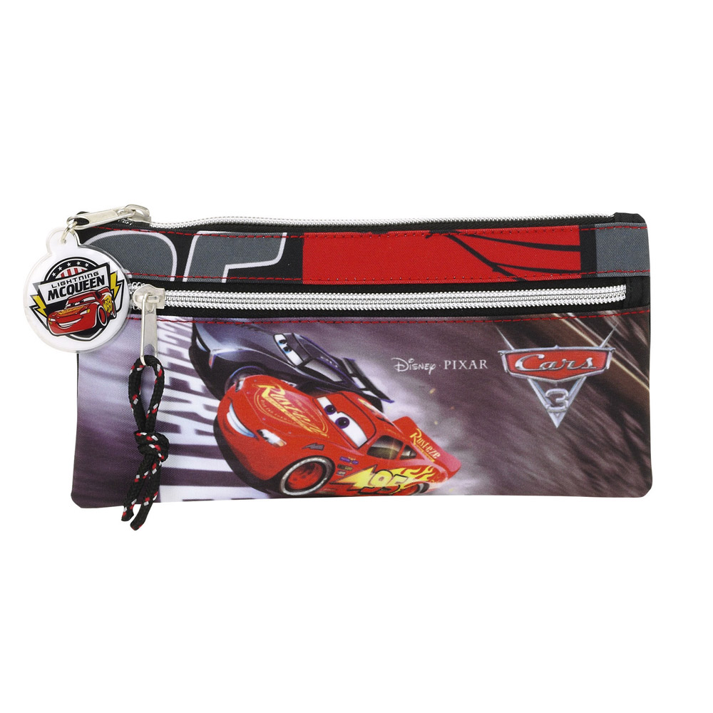 Disney Cars 3 2 Zip Pencil Case – image 1