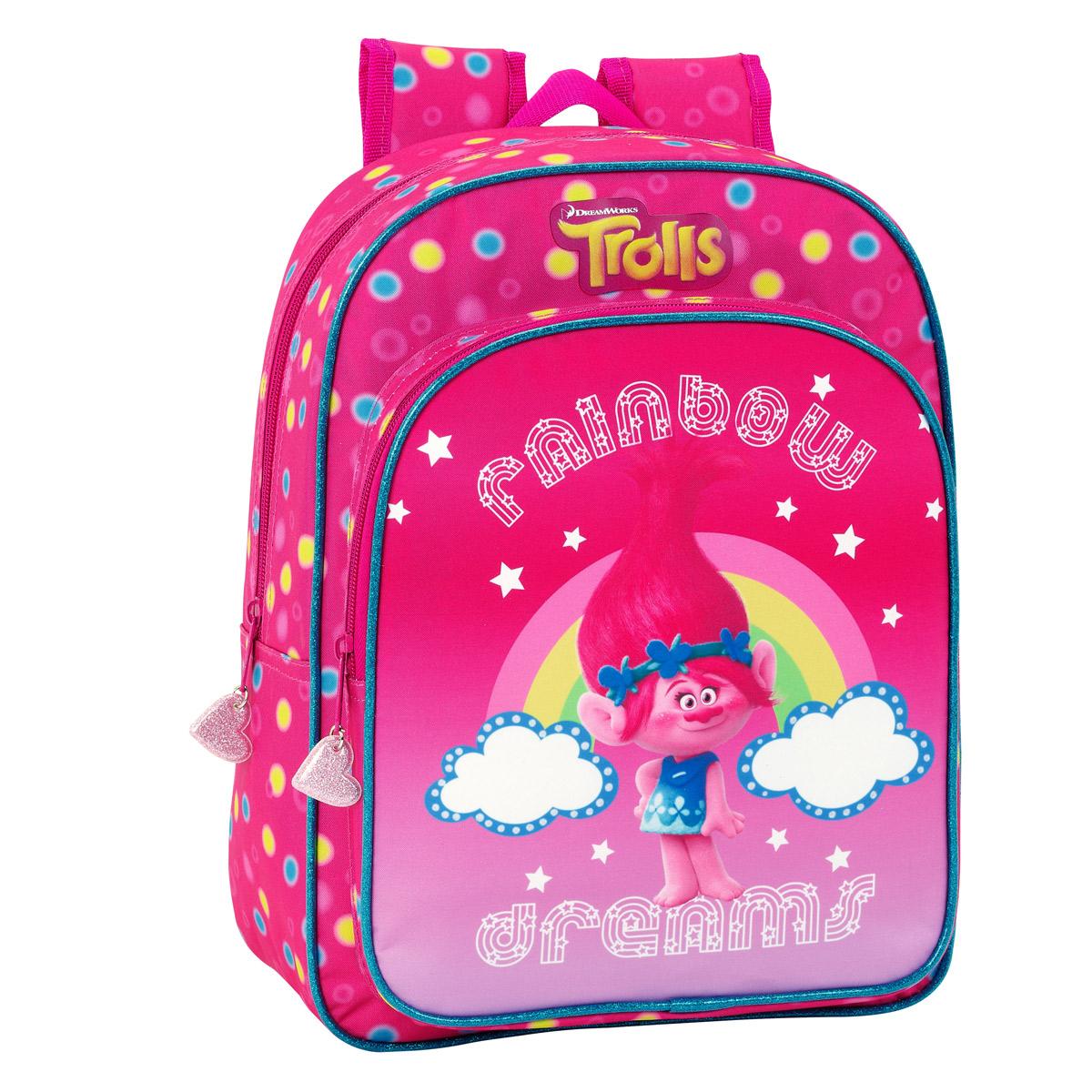 Trolls Rainbow Medium Backpack 34cm – image 1