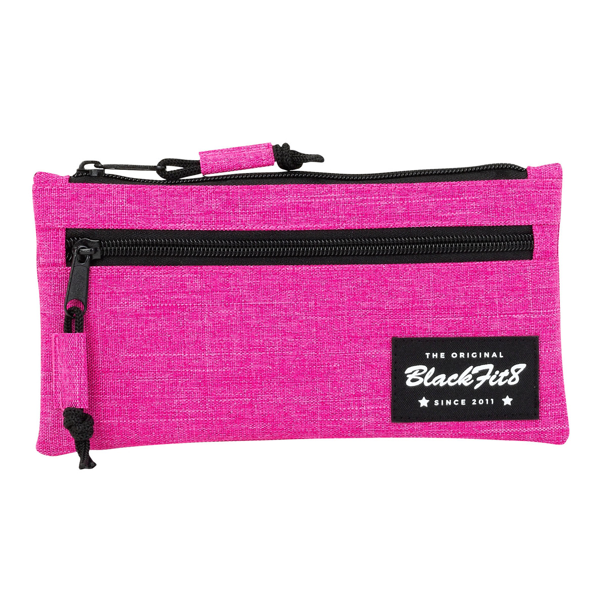 Blackfit8 Flat Pencil Case Pink