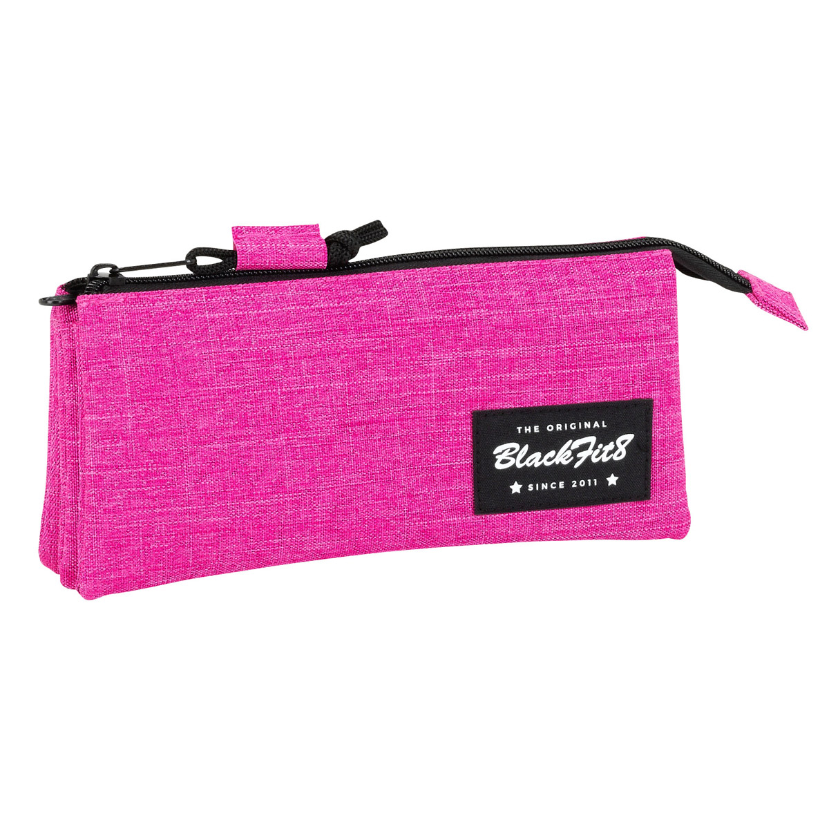 Blackfit8 Triple Pencil Case Pink