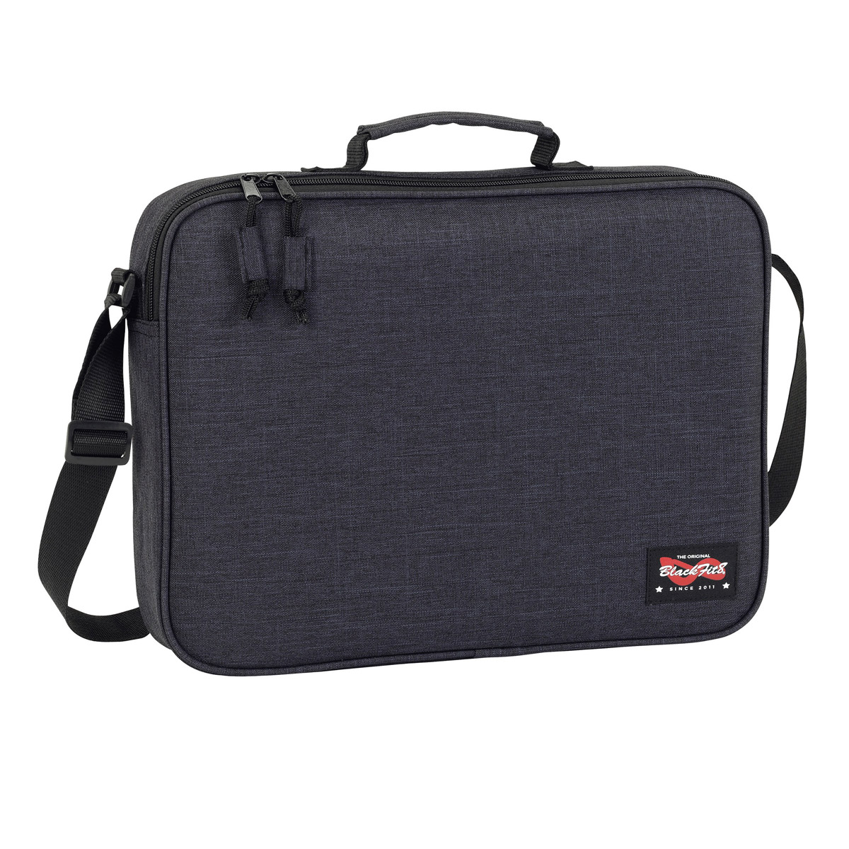 Blackfit8 Black Messenger Bag – image 1