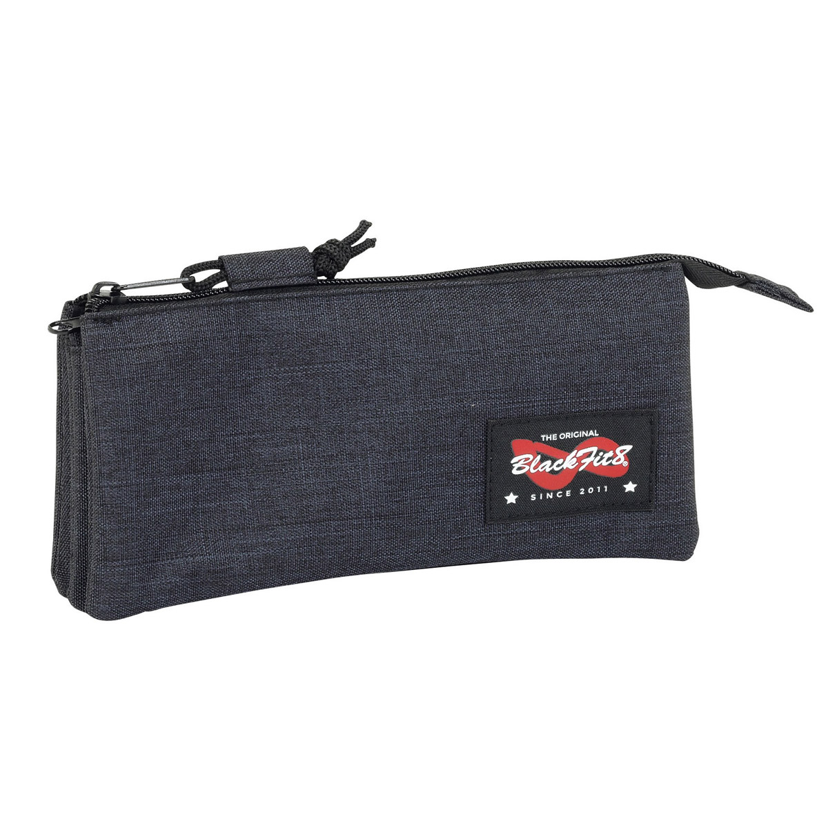Blackfit8 Triple Pencil Case Black – image 1