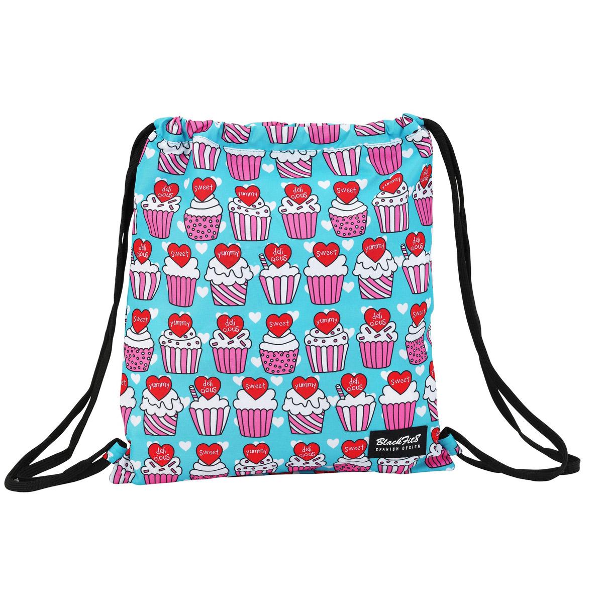 Blackfit8 Yummy Cupcake Drawstring Bag – image 1