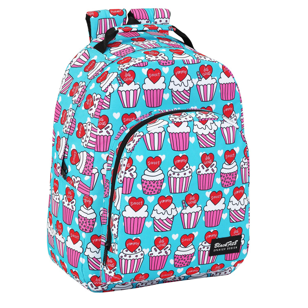 Blackfit8 Yummy Cupcake Large Backpack
