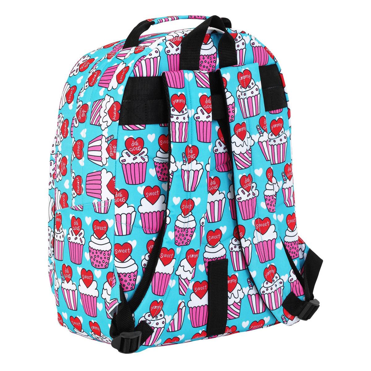 Blackfit8 Yummy Cupcake Large Backpack – image 2
