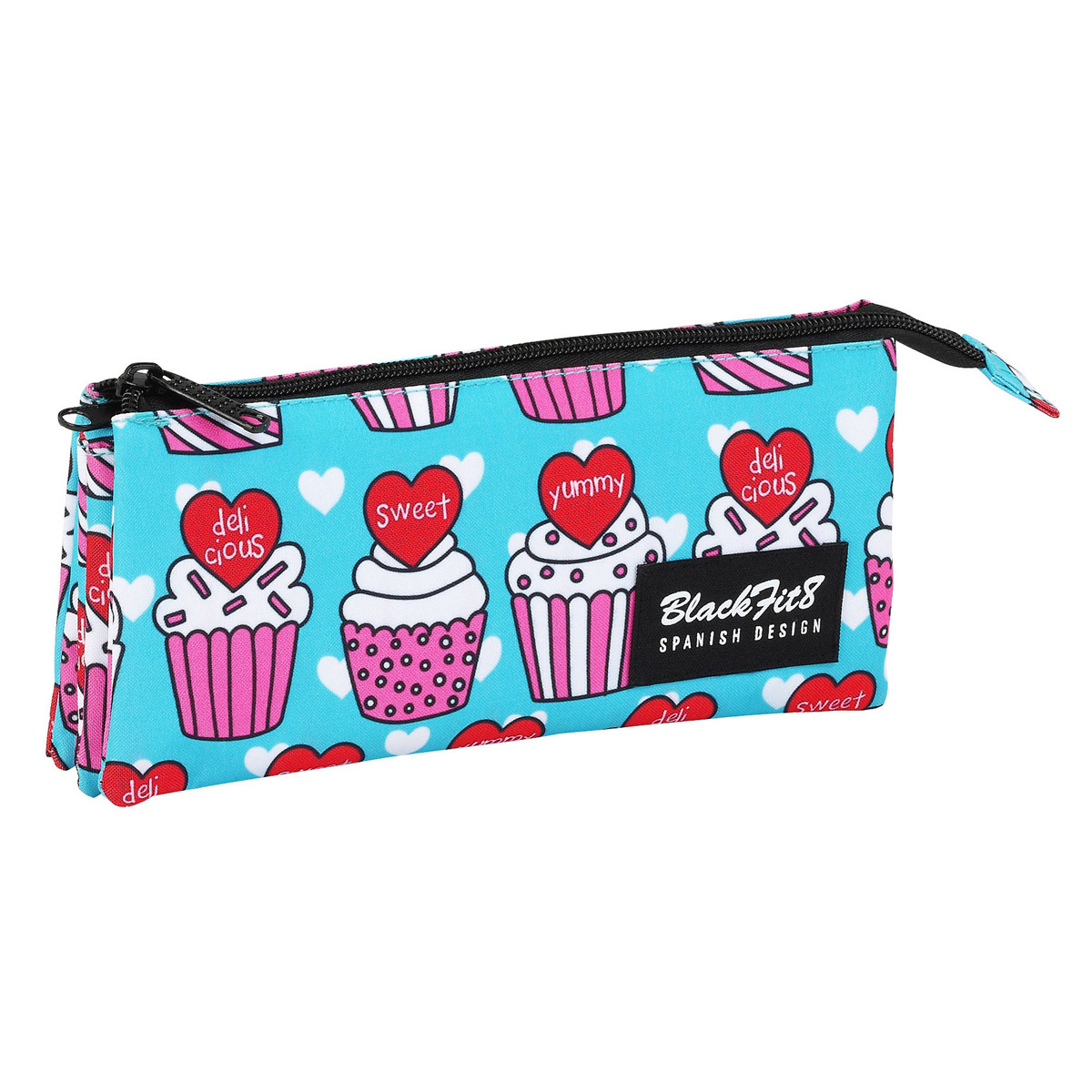 Blackfit8 Yummy Cupcake Triple Pencil Case