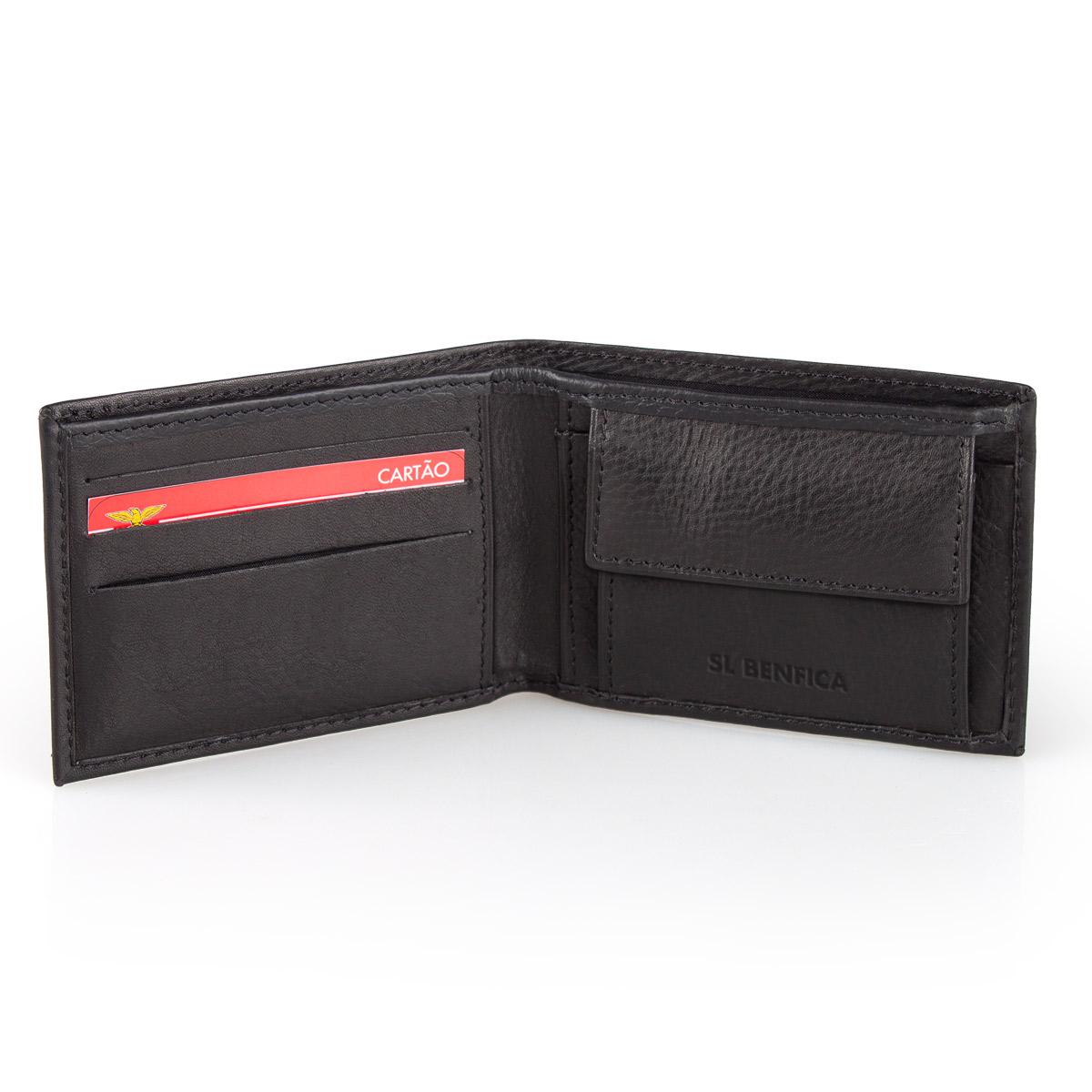 Leather  Wallet S.L. BENFICA Black 10cm – image 3