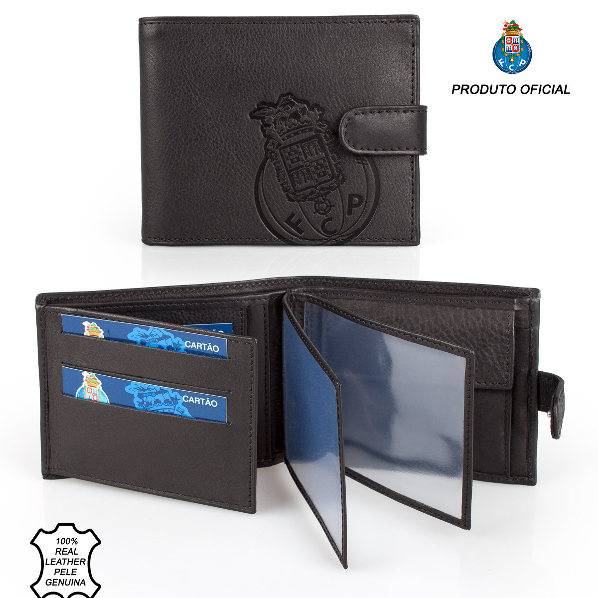 Leather Wallet Tab F.C. PORTO Black – image 1