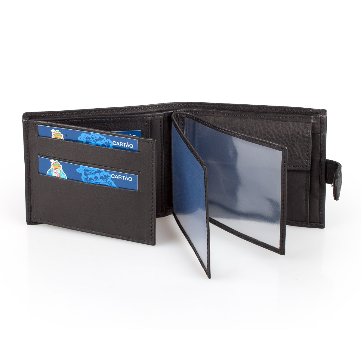 Leather Wallet Tab F.C. PORTO Black – image 3