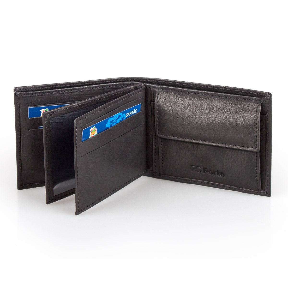 Leather Wallet F.C. PORTO Black 11.5cm – image 3